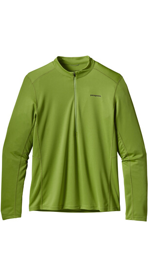 Patagonia M's Fore Runner Zip Neck L/S Shirt Supply Green